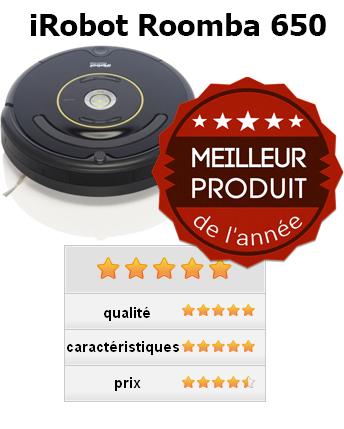 iRobot Roomba 650 produit de l'année