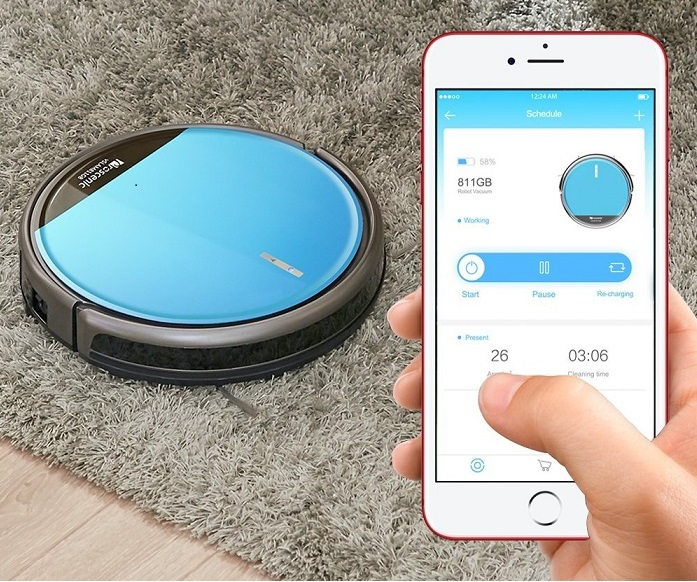 L'application iOS et Android pour le robot aspirateur Proscenic 811GB
