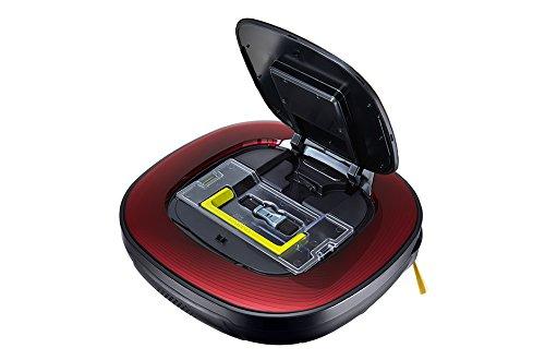 Le bac à poussière facilement accessible sur l'aspirateur robot LG Hombot VR8602RR